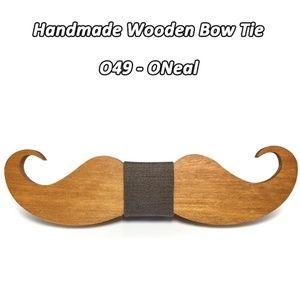 Handmade Wood Mustache Bow Tie